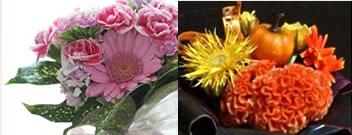 練馬区西大泉の手作りの集いポミエのフラワーアレンジメント講座イメージ